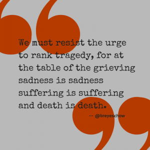 Bruce Reyes-Chow Quote on Death and Grief.